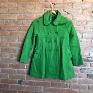 GAP apple green dress coat